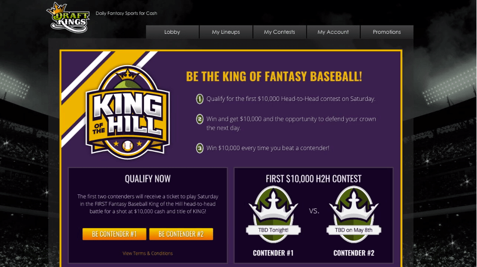 """""""King of the Hill"""" – DraftKings"""