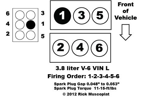 8.0 liter, V-10, VIN W, Ram Pickup, Ram Van, firing order