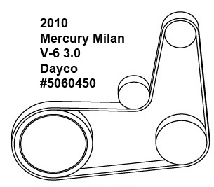 Mercury Milan V-6 3.0-liter serpentine belt diagram
