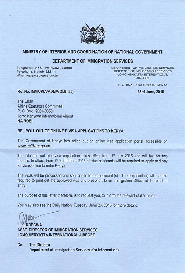 Kenya Introduces E Visa