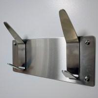 Heavy-Duty Stainless Steel Coat/Towel Rack, Wall Mount