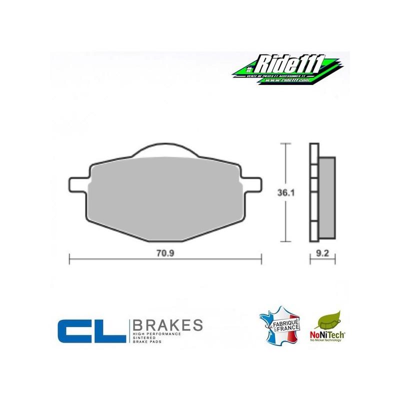 Plaquettes de frein arrière CL BRAKES YAMAHA DT 125 R