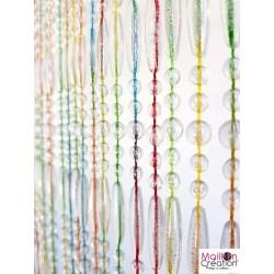 rideau de porte perles multicolore 90x220 cm
