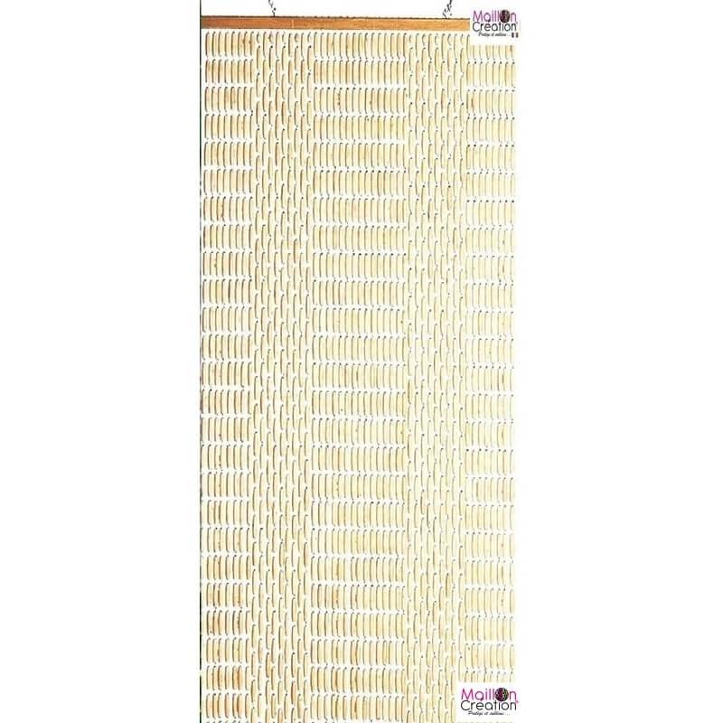 rideau perles buis 90x220