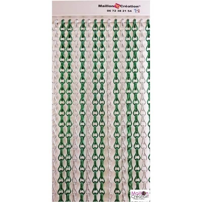 rideau mc vert et argent