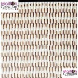 rideau perle 90x220 brun beige castellane