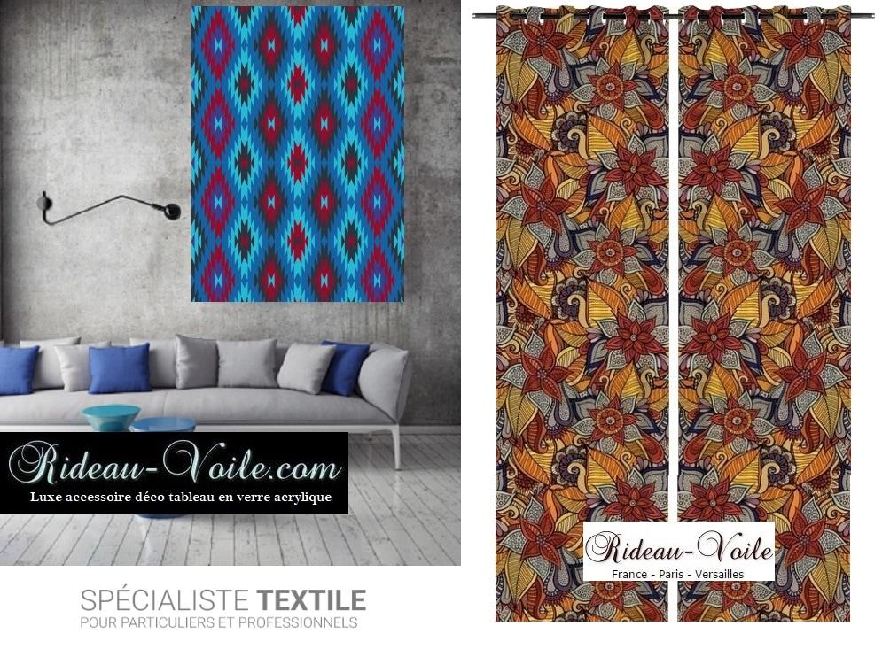 tissu deco ethnique africain rideaux