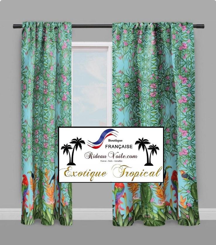 tissu exotique tropical rideau