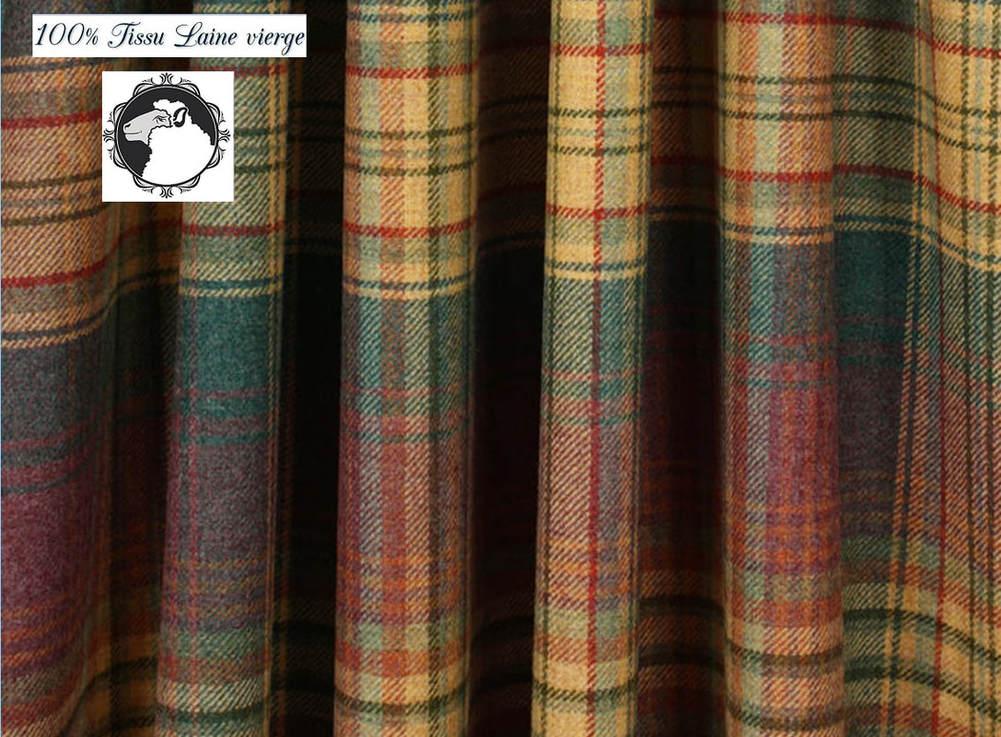 rideaux tissu laine metre bouillie