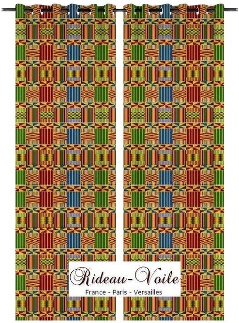 Tissu Motif Style Pagne Ankara Rideau Africain Rideaux
