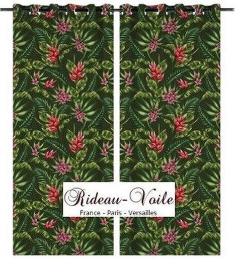 Rideau Coussin Couette Tropicale Exotique