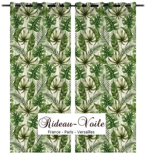 Tissu Au Mtre Textile Motif Exotique Tropical