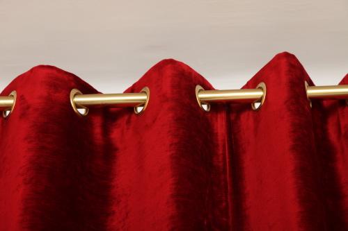 doubles rideaux en velours de lin