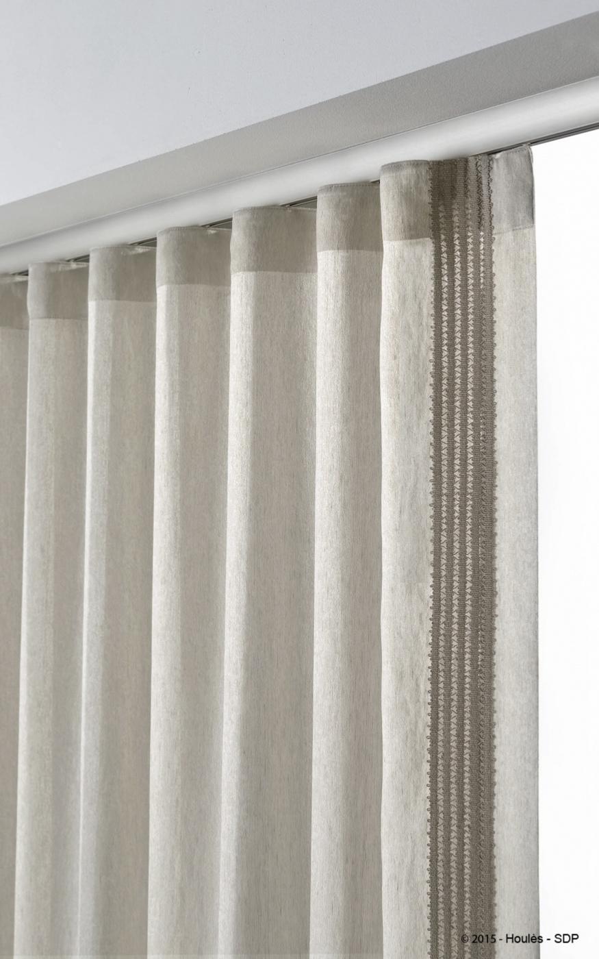 rideau en voilage lin polyester grazia de chez houles