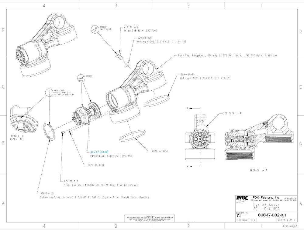 medium resolution of 808 17 082 kit eyelet assy 2011 dhx rc2