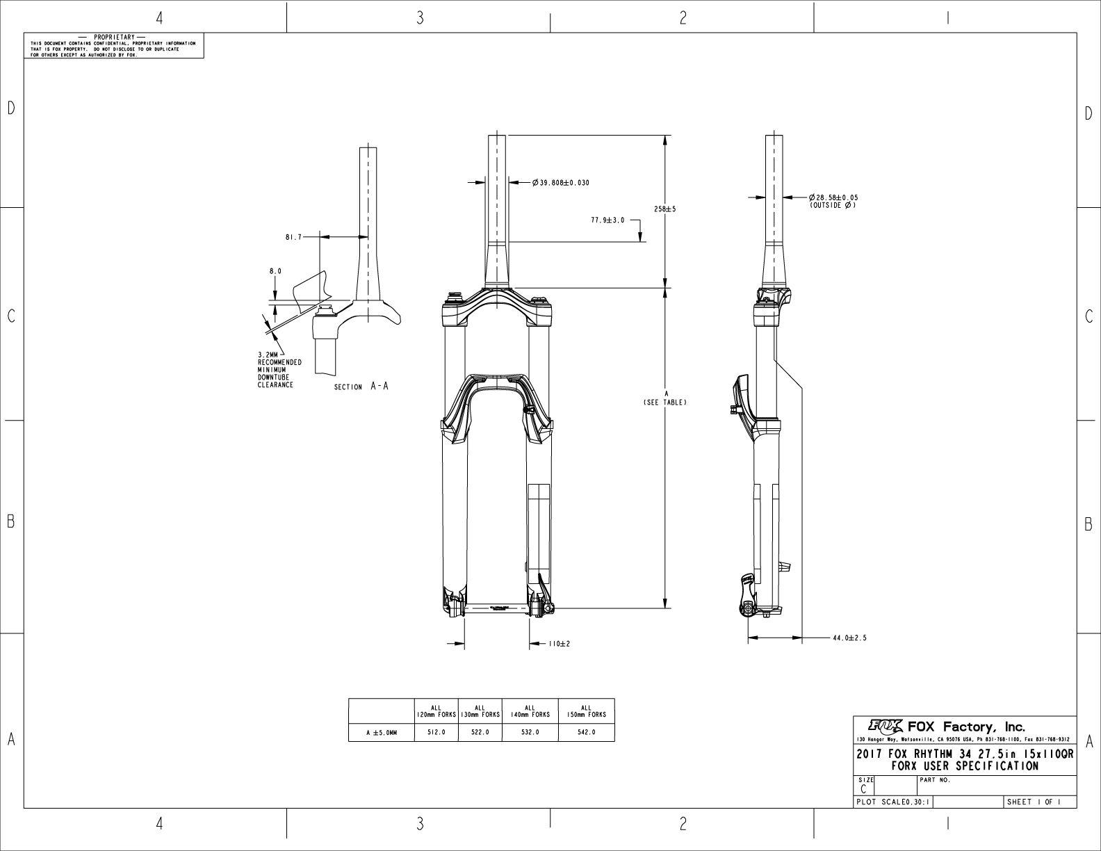 Mountain Bike Suspension Fork Diagram