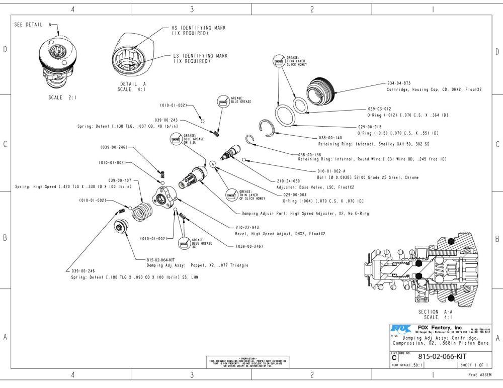 medium resolution of 815 02 066 kit damping adj assy cartridge compression x2 868in bore piston
