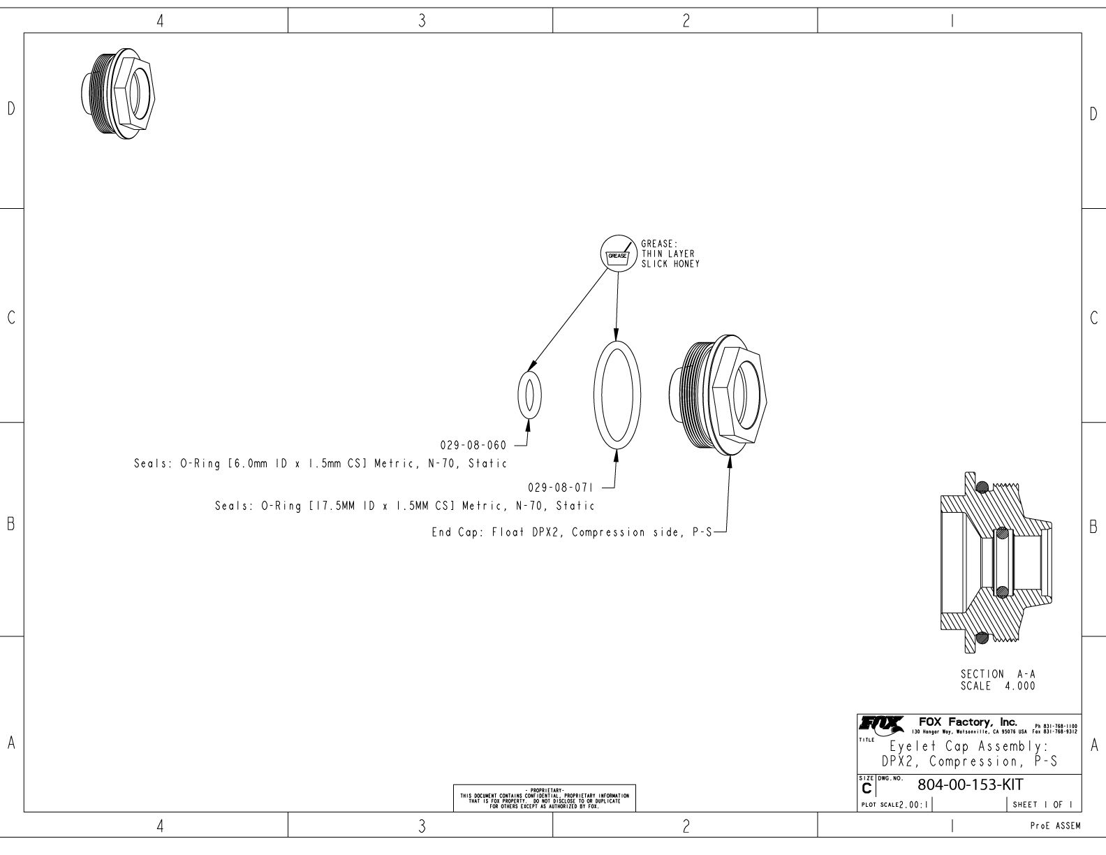hight resolution of 804 00 153 kit eyelet cap assembly dpx2 compression p s