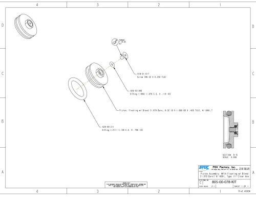 small resolution of 805 00 078 kit piston assembly my14 floating w bleed 1 070 bore al 6061 type iii clear ano