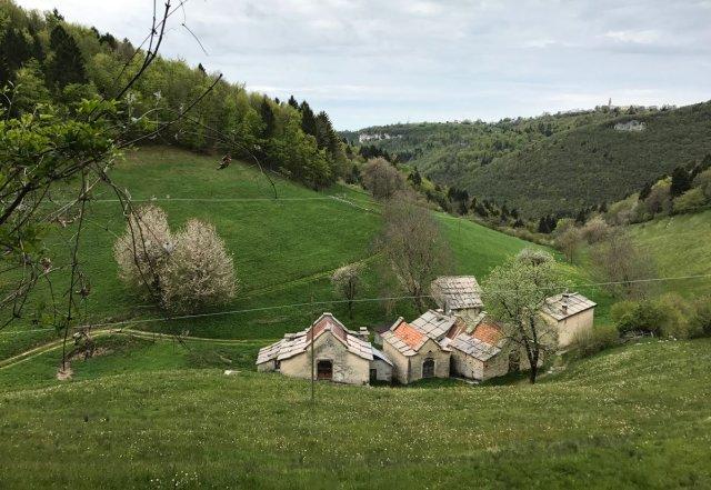 panorama dei monti veronesi percorso della Lessinia Legend