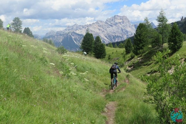 cortina in mountain bike Falzarego super trail