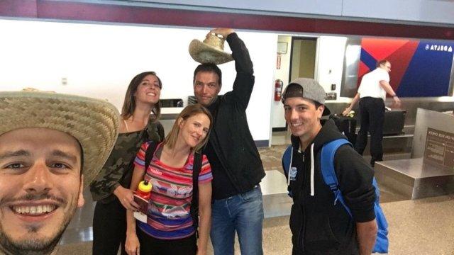 All'aeroporto con Gian Paolo Grossi, Gaia Ferrazzi, Alessandro Perseo, Daniele Cantoni