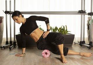 Pilates online e black roll con Miretz