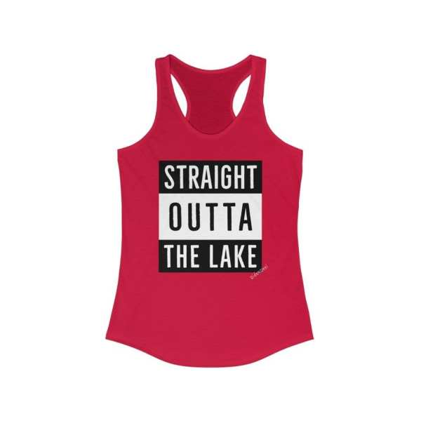 Straight outta the lake red tank