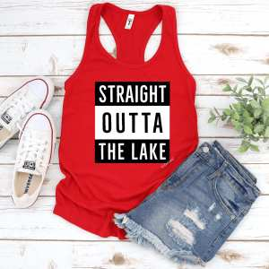 Straight Outta The Lake Tank -Women's Racerback