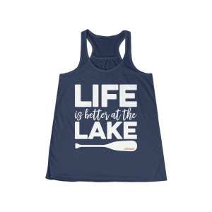 Life Is Better At The Lake Women's Flowy Racerback Tank – Eco-Friendly