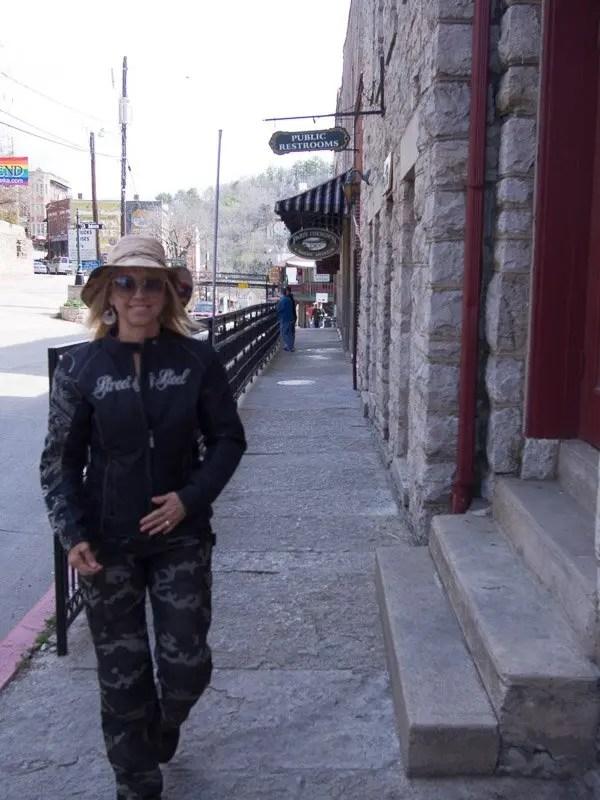 Kay Pratt shopping in downtown Eureka Springs.