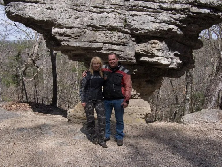 Kay and I visited Pivot Rock just outside of Eureka Springs.