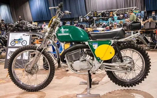This beautifully restored 1972 Penton (KTM) motorcycle is owned by Doug Duncan in Shawnee, Oklahoma.