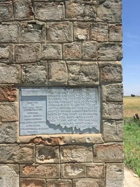 Cowboy gravestone along the Oklahoma Adventure Trail
