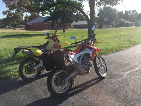Emily and I rode our dual sport motorcycles on the Grand Boulevard loop. Any streetbike can easily make the loop.
