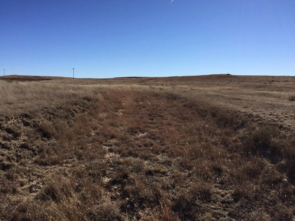 This old washed out wagon trail is all the remains of Sod Town that I could find.