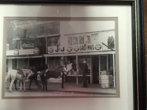 Old pictures from Earlsboro's past adorn the walls of David's Cafe.