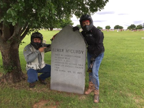 It took Kay and I several trips to find Elmer McCurdy's grave in the huge Summit View Cemetery.