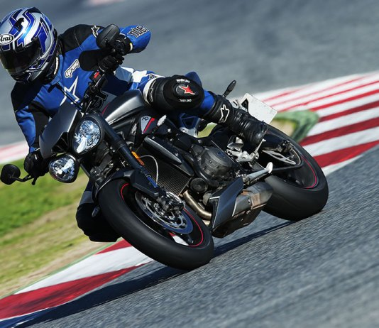 2017 Triumph Street Triple RS action