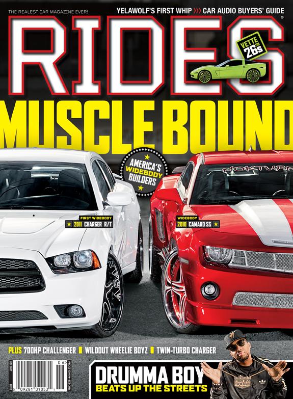 rides cars june 2011 widebody charger camaro