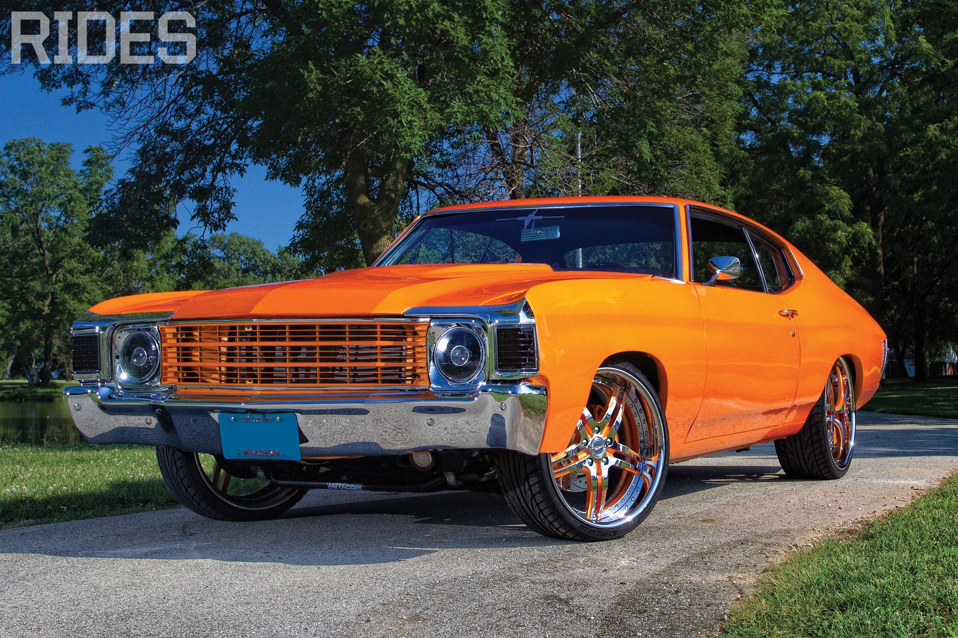 rides cars chevy-chevelle-orange-wallpaper chevrolet 1972