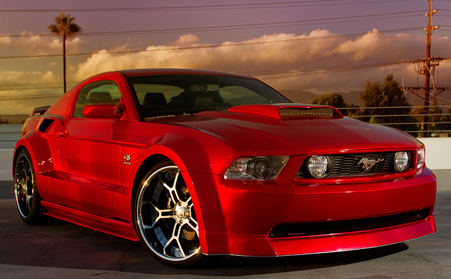 rides cars galpin ford mustang gt red gas widebody