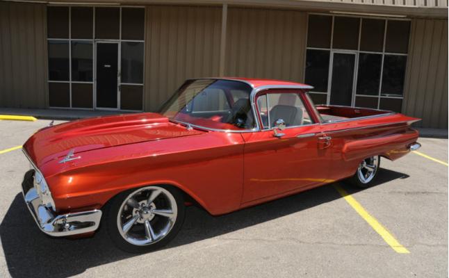 rides 1960 el camino red custom lowrider interior dash guages bezel chevy chevrolet