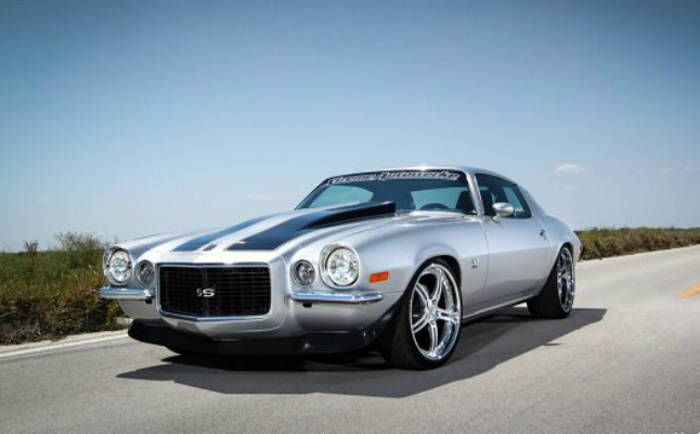 maro rides strasse forged chevrolet chevy camaro ss 1972 silver muscle car rims