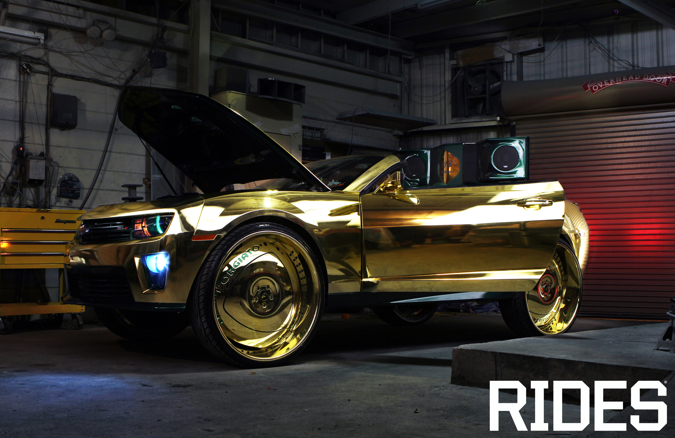 rides gold camaro zl1 king 813 customs linny j chevy chevrolet
