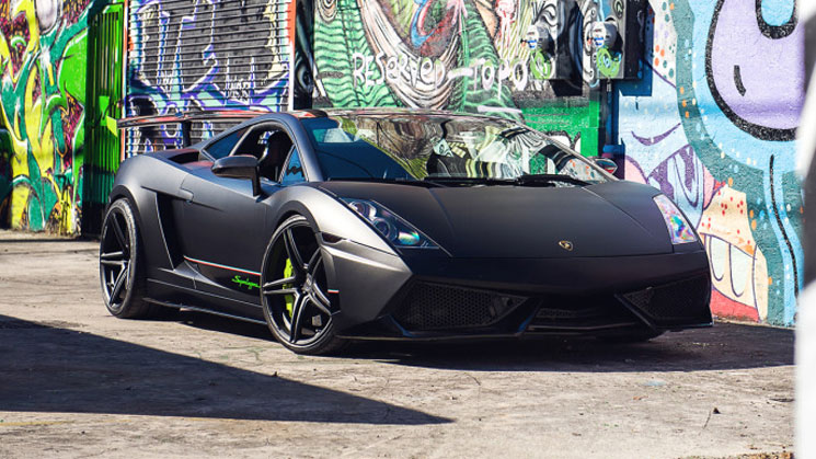 Matte Black Lamborghini Superleggera ADV05.1SL ADV1 green lambo wheels boutique twin turbo