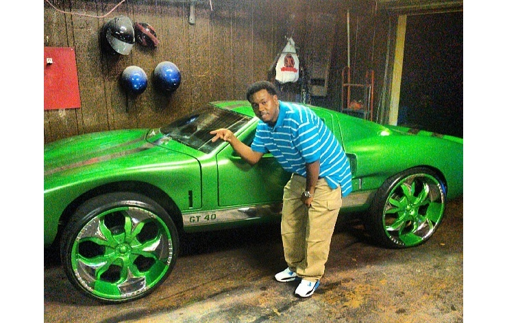 ford+gt+40+kit+car+big+wheels+green+donk+24s