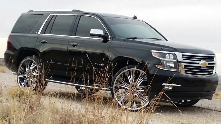 rides magazine first 2015 tahoe on 28 inch dub wheels chevy chevrolet