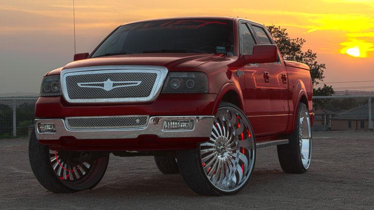 2006 Ford F-150 King Ranch on 32-inch Forgiato Autonomo wheels, Diablo tires