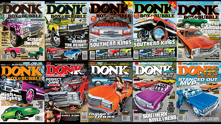 donk box and bubble magazine every cover rides
